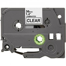 "Brother TZe-161 Compatible P-Touch Label Tape, 1.5"" Black on Clear"