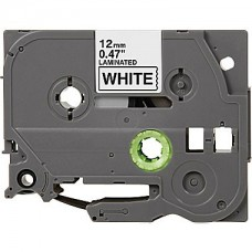 "Brother TZe-231 Compatible P-Touch Label Tape, 1/2"" Black on White"
