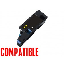 Dell 1250 Series Yellow Compatible Toner Cartridge WM2JC (331-0779), High Yield