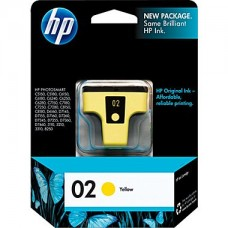 HP 02 Yellow Ink Cartridge (C8773WN)