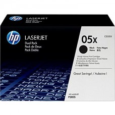 HP 05XD Black Toner Cartridge (CE505XD), High Yield Twin Pack