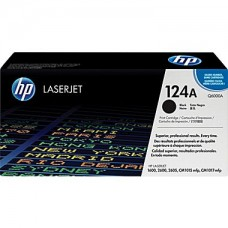 *HP 124A Black Toner Cartridge (Q6000A)