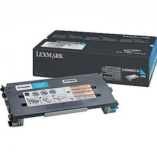 Lexmark 500 Series Cyan Toner Cartridge (C500H2CG), High Yield