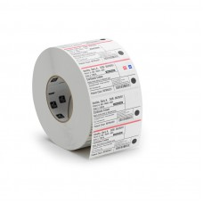 "Zebra 2000D Z-Perform Direct Thermal Transfer Label Paper, White, 2"" x 1"", 1"" Core, 2340/Roll, 6 Rolls/Ctn (10010028)"